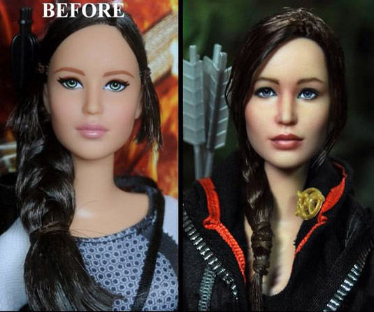 Celebrity Dolls Repainted