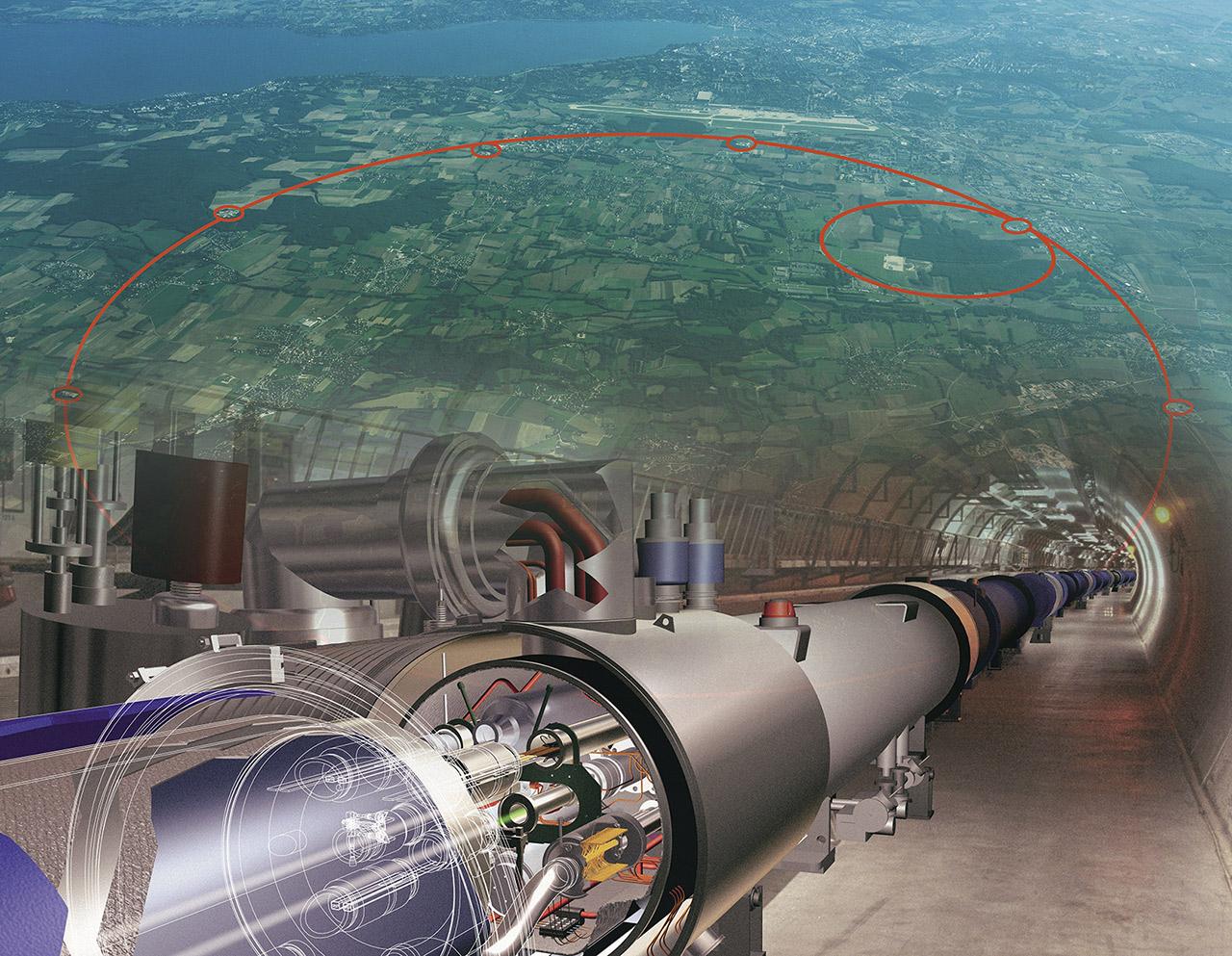 CERN Large Hadron Collider Geneva