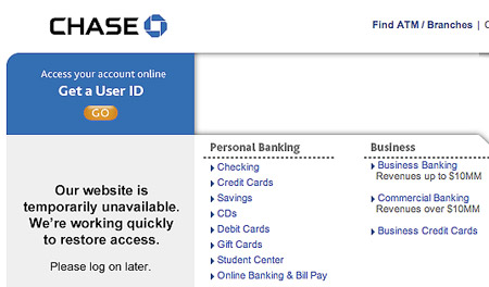 Chase online banking down for 24 hours techeblog Hause on line