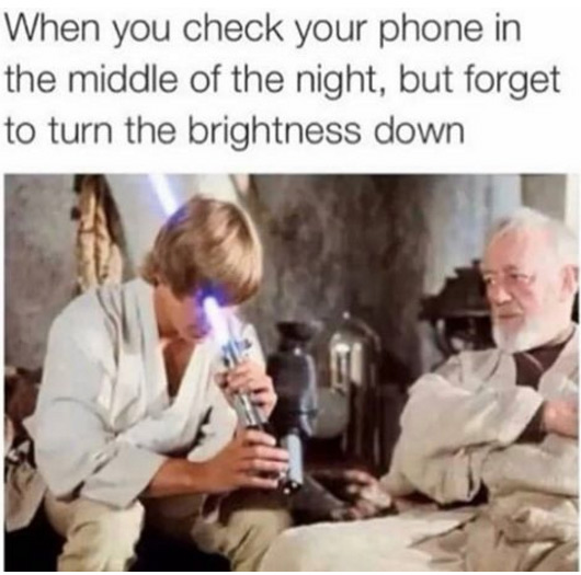 Checking Phone Night