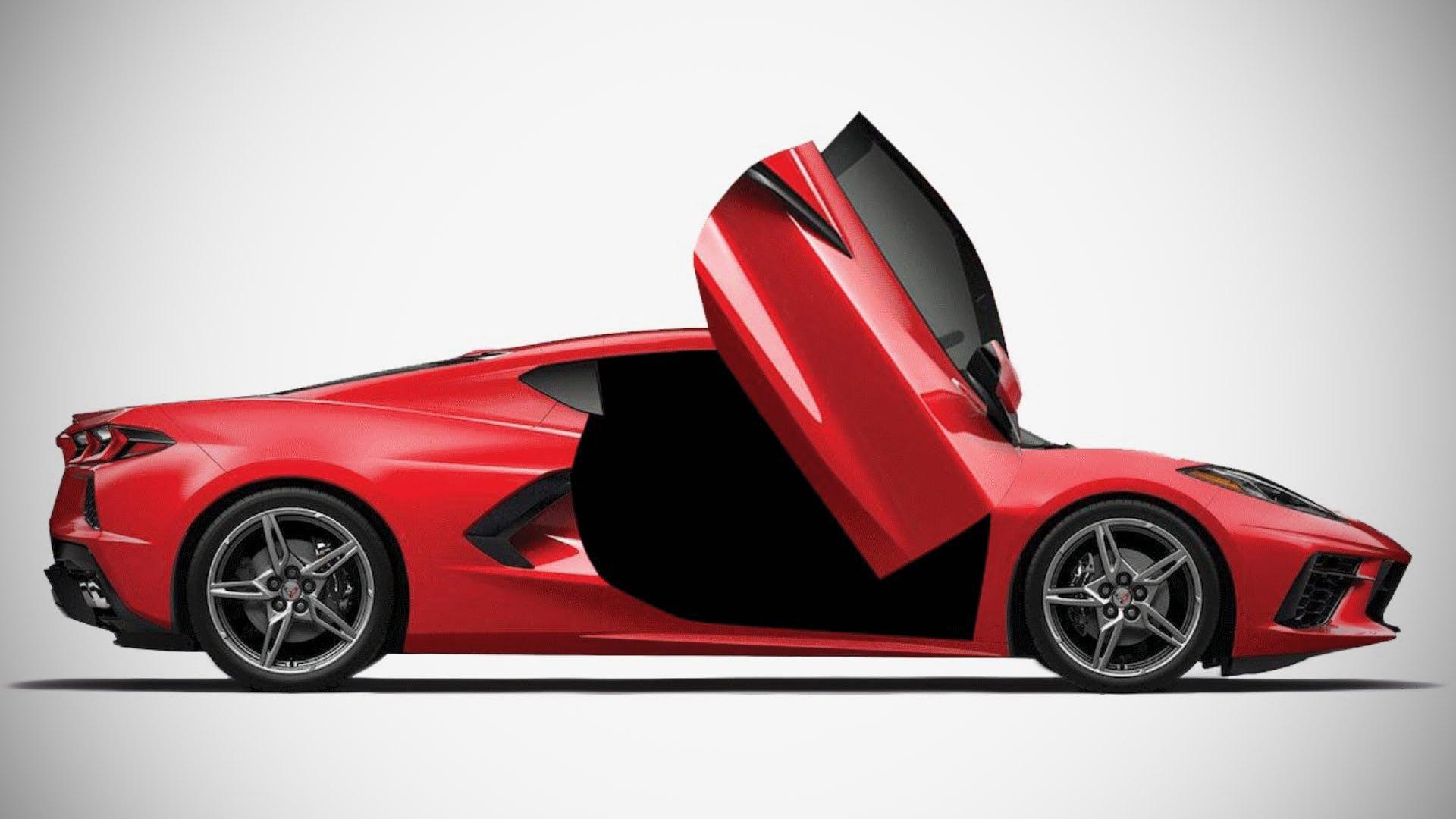 Chevrolet Corvette C8 Lamborghini Scissor Doors