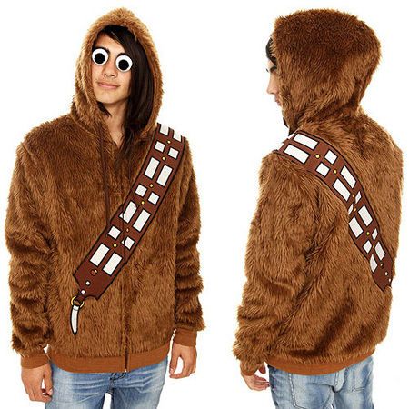 Geeky Star Wars Hoodie Turns You Into Chewbacca TechEBlog - Hoodie will turn you into chewbacca from star wars