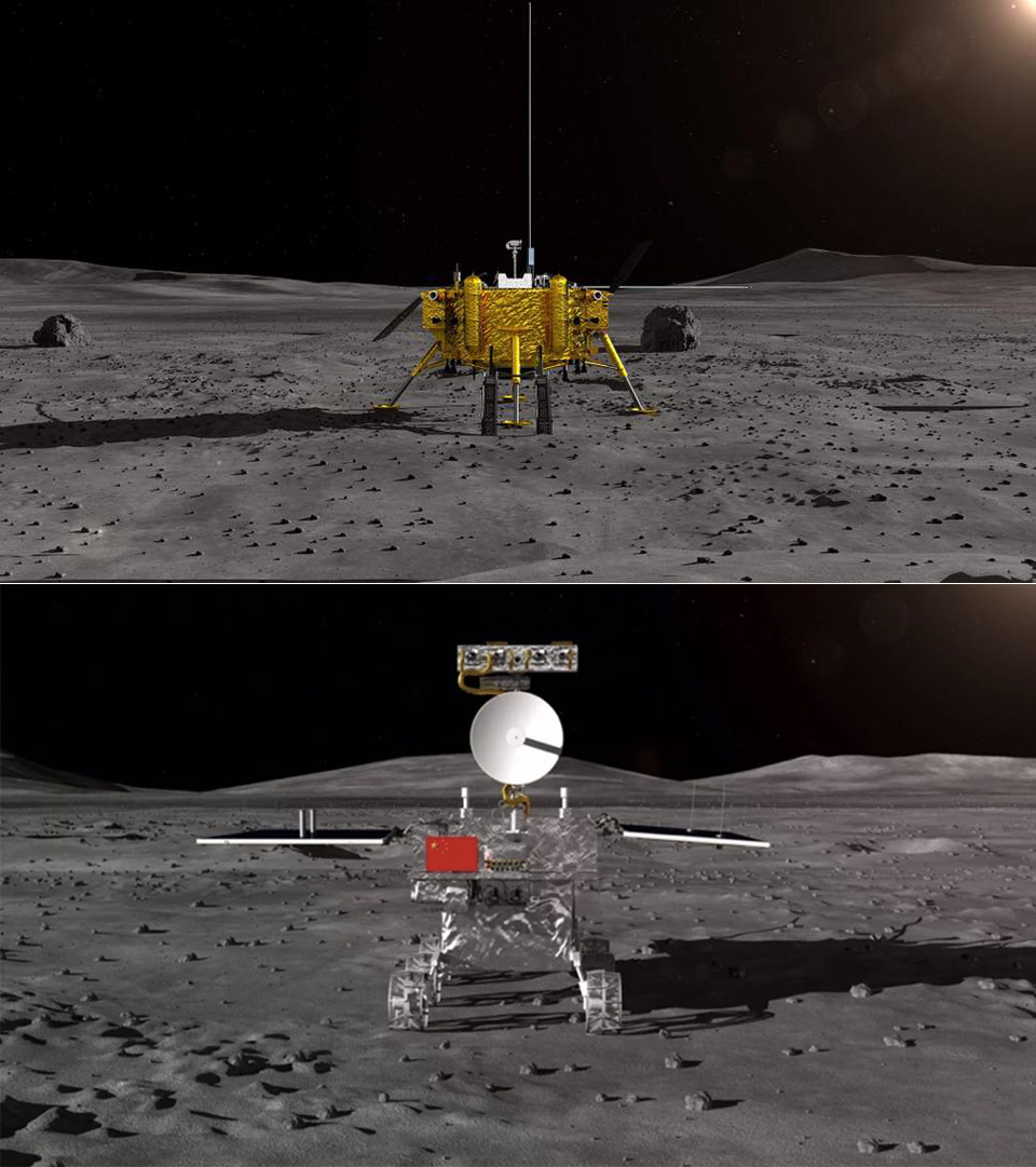 China Chang'e-4 Far Side of the Moon