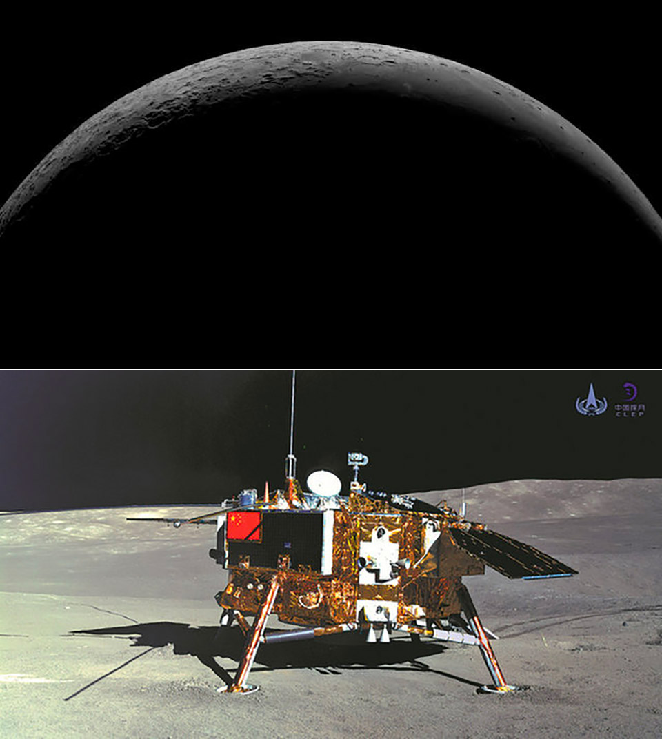 China Chang'e 4 Rover Far Side of the Moon