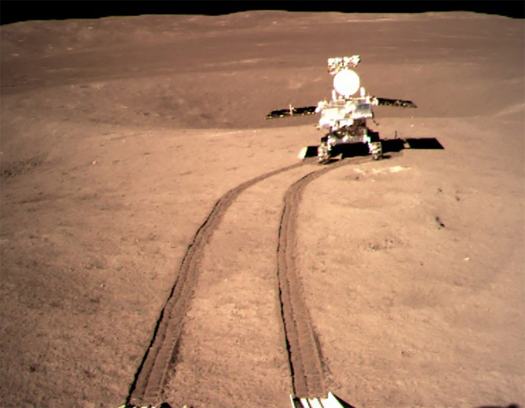 China Chang'e-4 Probe Yutu-2 Lunar Rover Moon Far Side