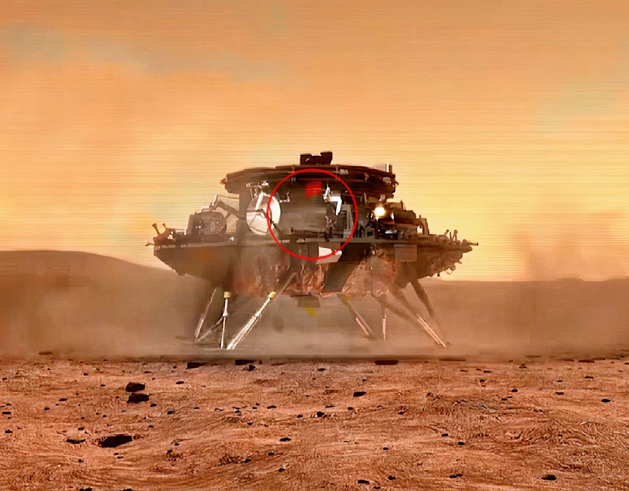 China National Space Administration Mars Rover Parachute