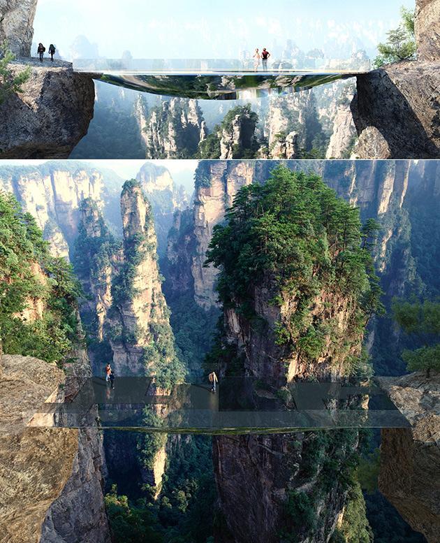 China Transparent Mirrored Bridge