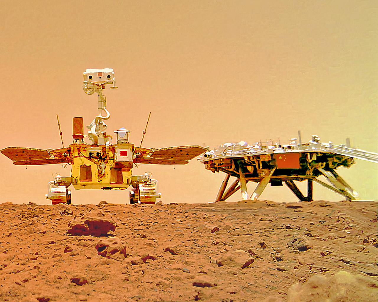 China Zhurong Mars Rover First Pictures