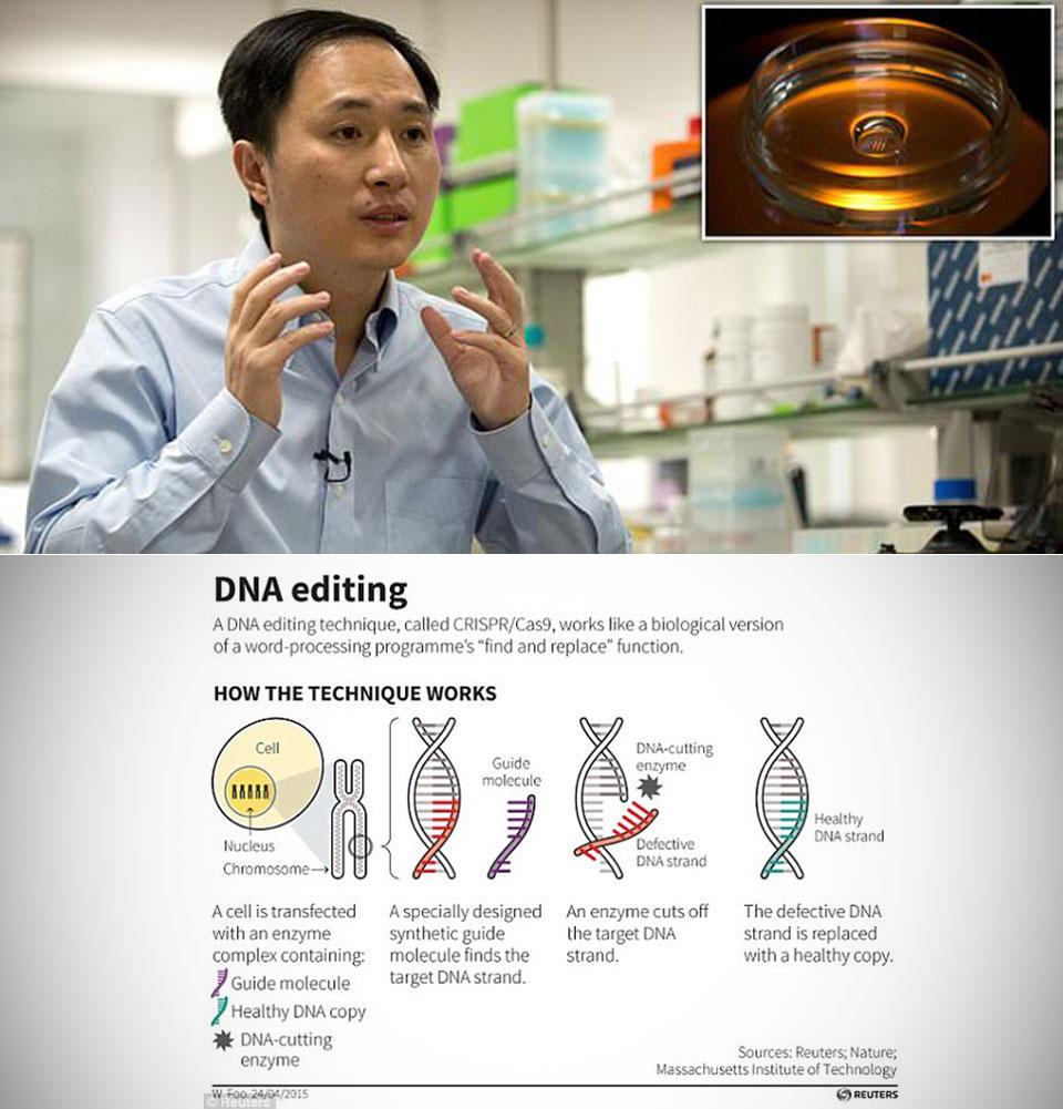 Chinese Scientist Genetically Edited Babies CRISPR