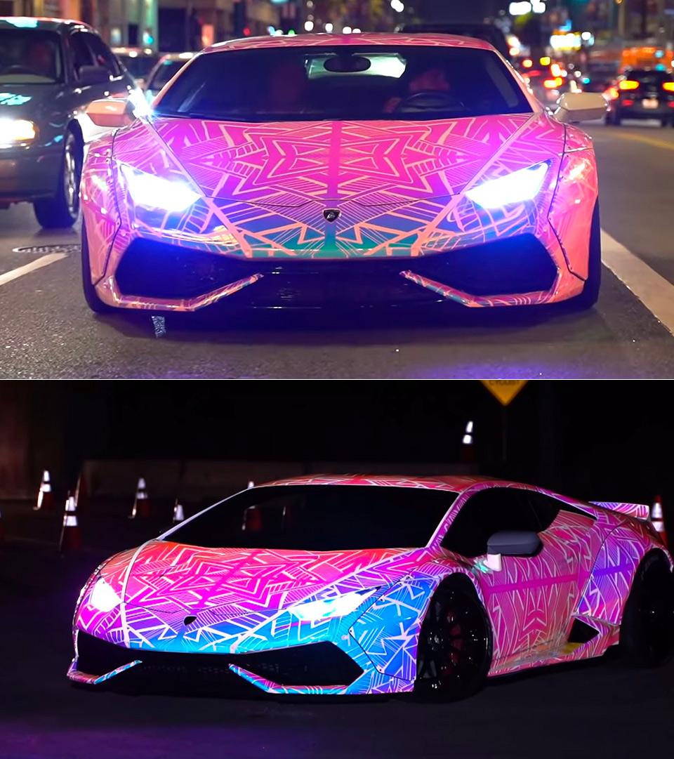 Chris Brown Color-Changing Lamborghini Huracan