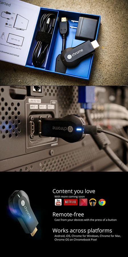 Get the Google Chromecast HDMI Streaming Media Player for
