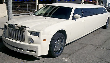 ebay watch: chrysler 300c turned rolls royce phantom limousine