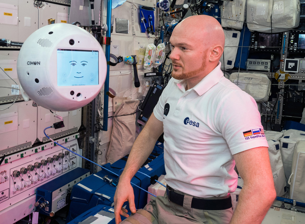 CIMON Spherical Robot ISS