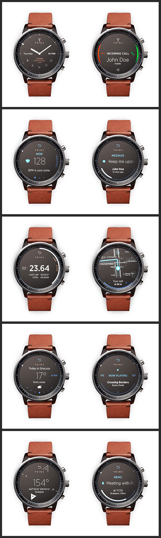 Circular Luxury Smartwatch
