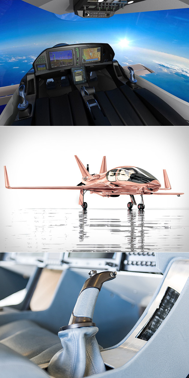 Valkyrie Private Plane Rose Gold