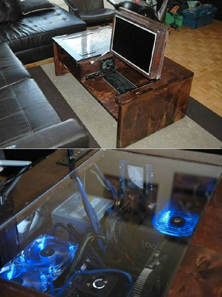 Geek Builds Fully Functional Coffee Table Computer From Scratch Techeblog