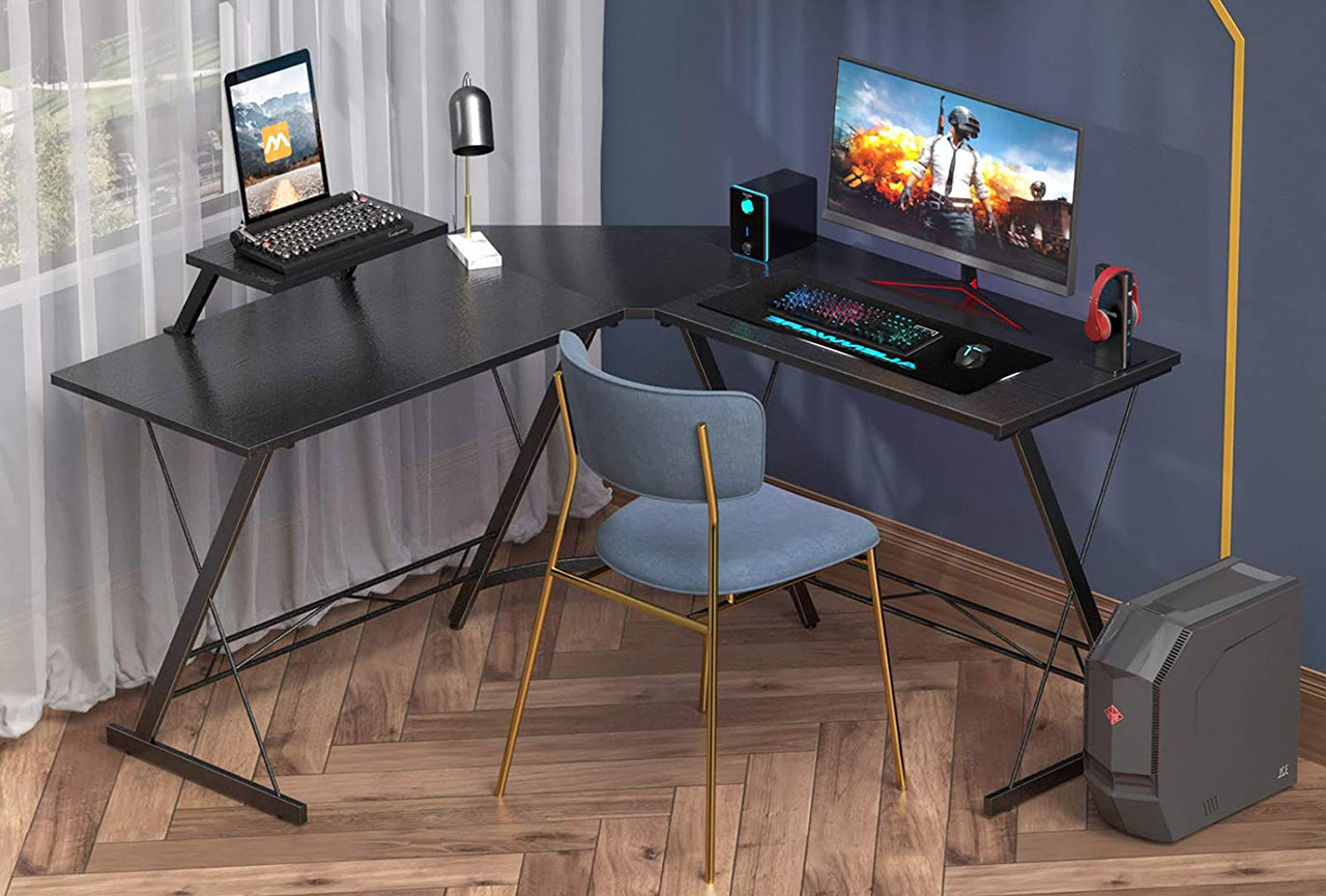 Coleshome L-Shaped Computer Desk
