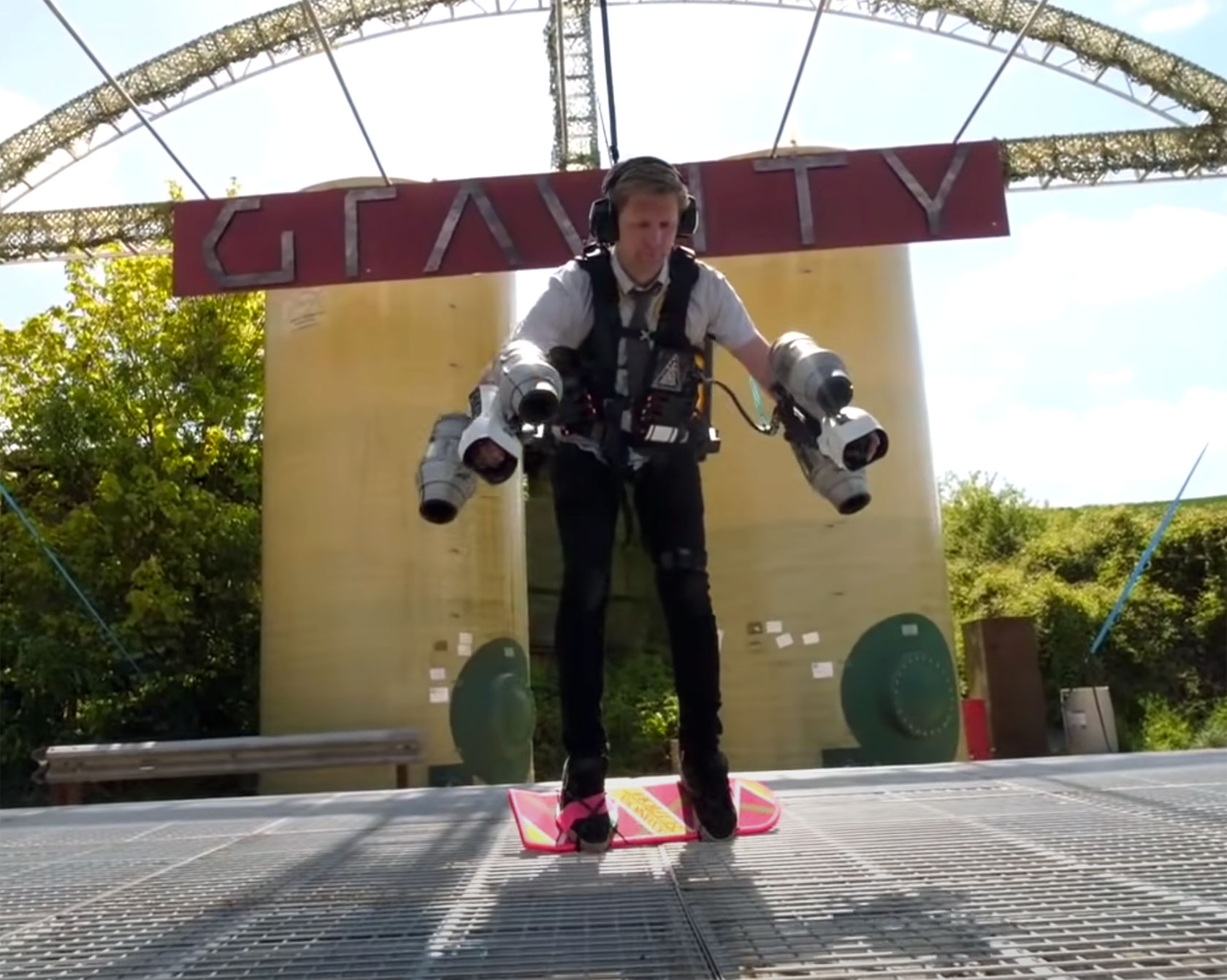 Colin Furze Jetpack Back to the Future Hoverboard