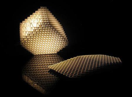Laser-Cut Collapsible 3D Lamp - TechEBlog