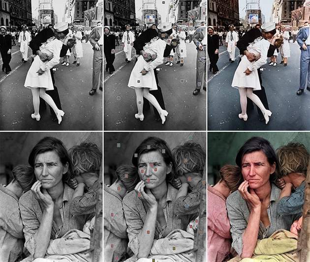 Uc berkley researchers lead by richard zhang have developed an innovative app that uses artificial intelligence to colorize black and white photos near