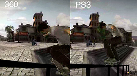 Skate PlayStation 3 vs  Xbox 360 Graphics ComparisonXbox 360 Vs Ps3 Graphics