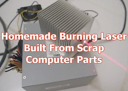 Guy Uses Old Computer Parts to Build Functional Burning
