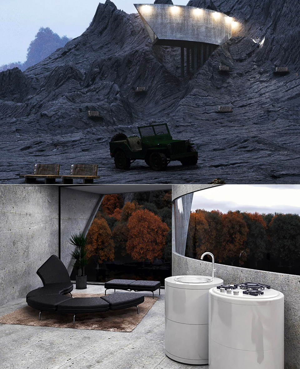 Concrete House Volcano Bond