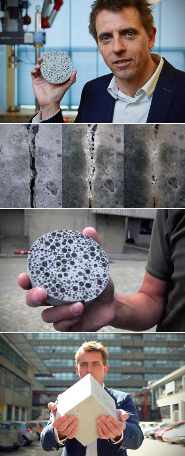 Self-Healing Concrete Bacteria