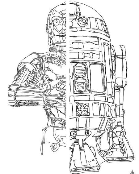 Star Wars Line Drawing Line Star Wars Drawings