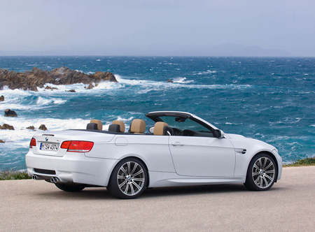 "BMW's all-new 2009 M3 convertible is powered by a ""V-8 displacing 4.0 litres"