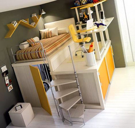 As a child owning a bunk bed was probably the highlight of your room but what if you had one of these nifty all-in-one desks / bed / storage room ... & 12 Cool and Geeky Beds That Actually Exist - TechEBlog