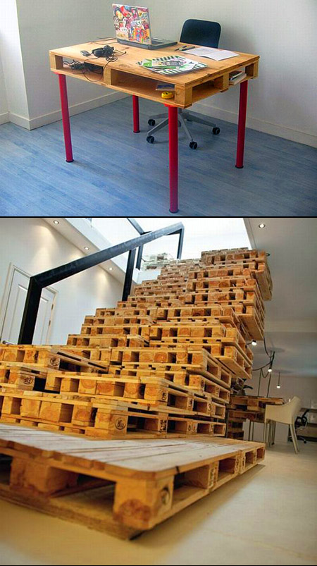10 cool and geeky things made from wooden pallets techeblog. Black Bedroom Furniture Sets. Home Design Ideas