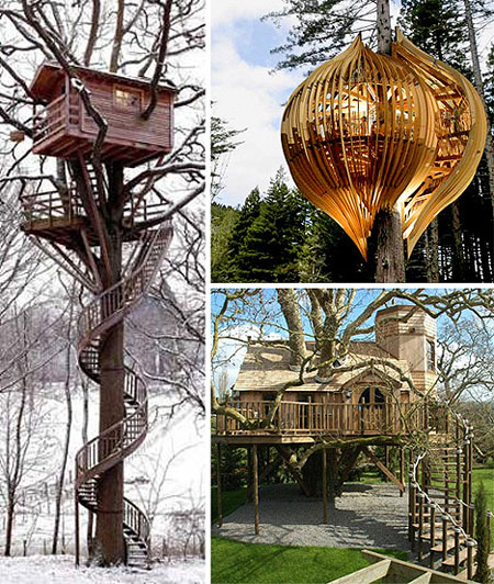 Awesome Tree Houses: Cool Treehouses That Think Outside The Box