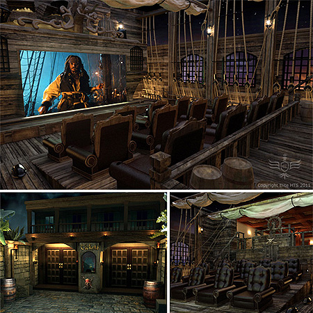 Room Pirate Ships Caribbean Homes Home Theaters Theater Rooms