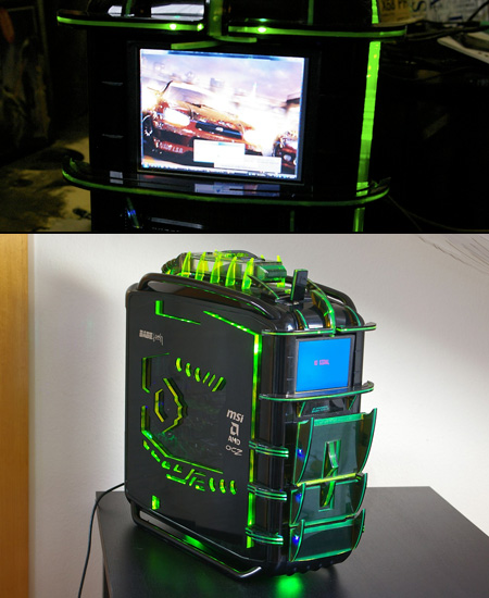 cosmos dragon pc has built in lcd display techeblog