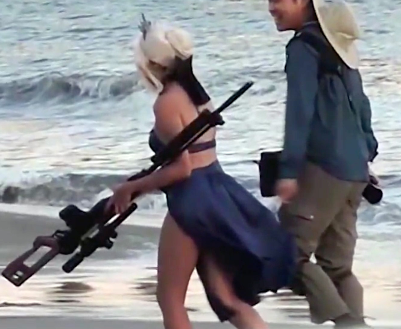 Cosplayer Rifle Beach