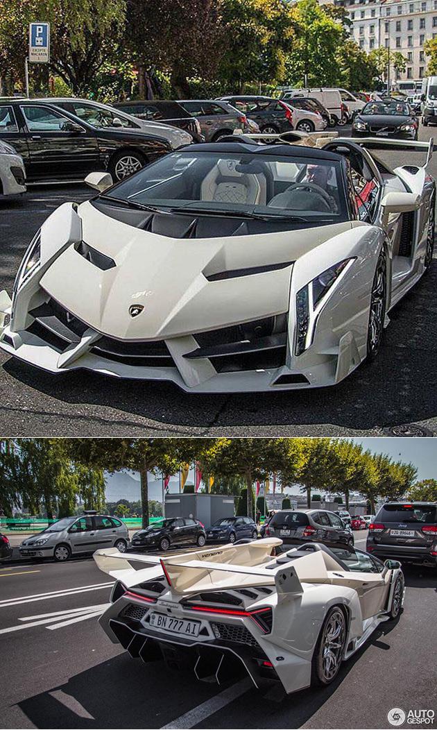 Cream Lamborghini Veneno