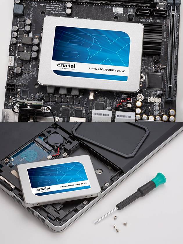 Crucial BX300 3D NAND SSD