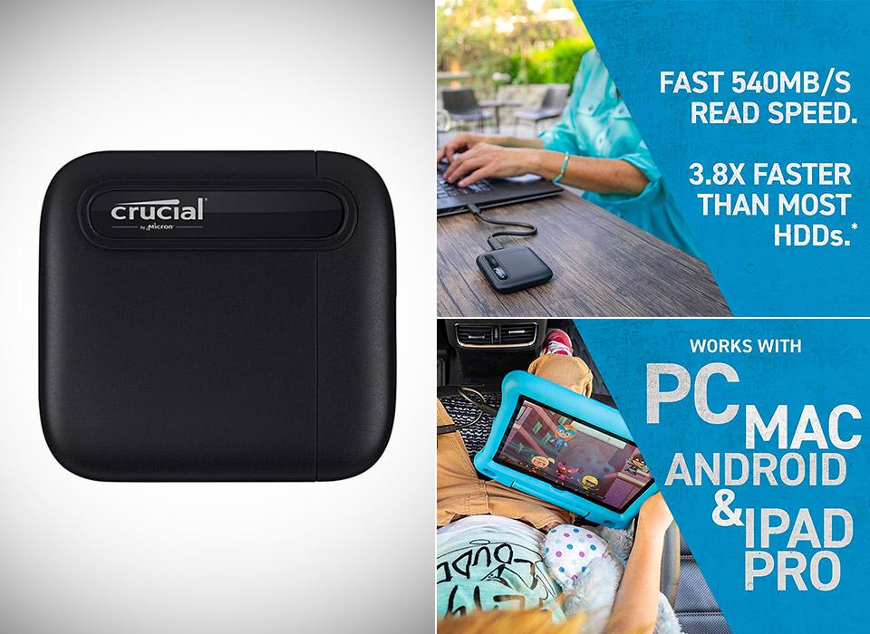 Crucial X6 1TB Portable SSD