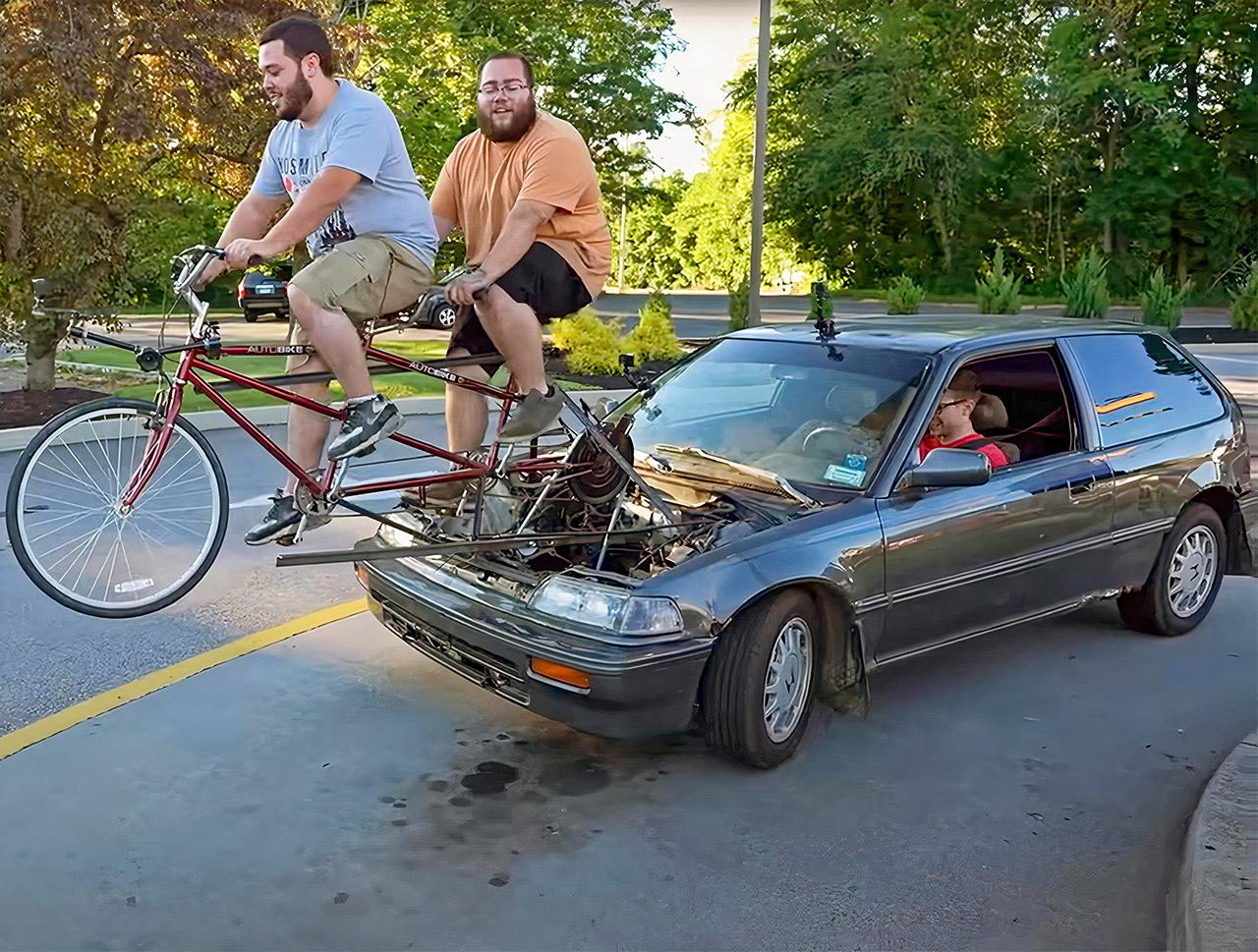 Custom Bicycle-Powered Car