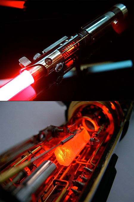 This Mind Blowing Custom Lightsaber Has A Red Crystal Chamber