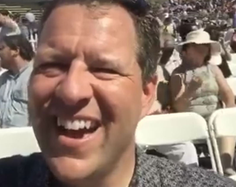 Dad Records Self at Daughter's Graduation