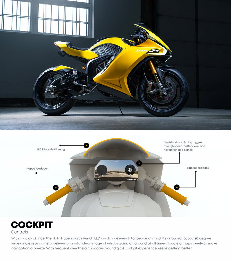 Damon HyperSport HS Electric Motorcycle