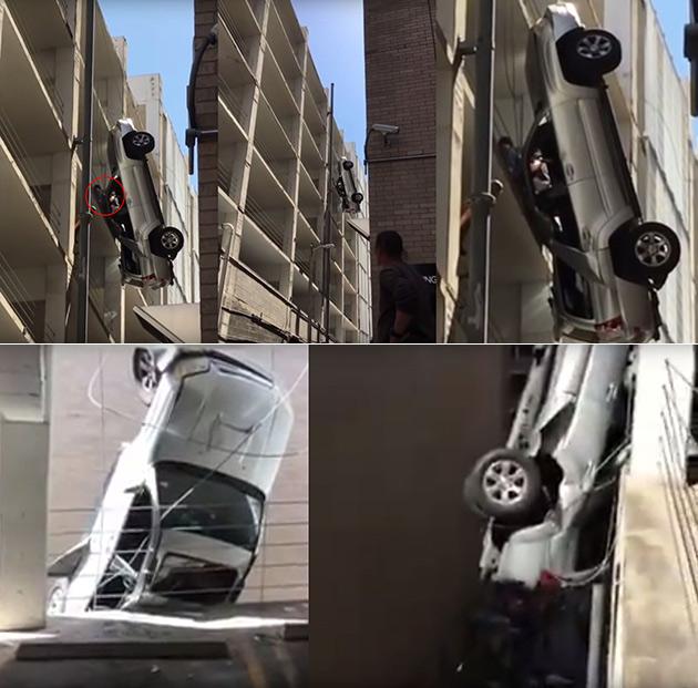 Dangling Car Parking Garage