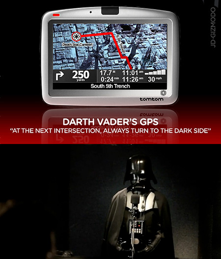 Funny Darth Vader TomTom GPS, May the 4th be With You – TechEBlog