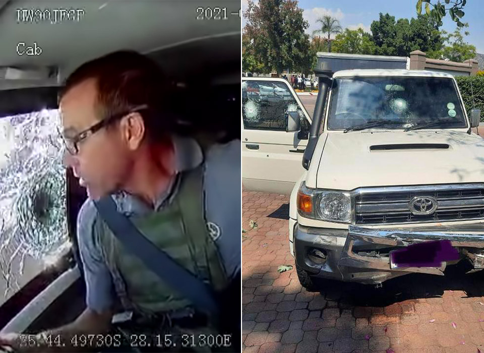 Dashcam Cash-in-Transit Robbery South Africa
