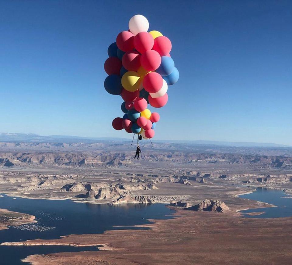 David Blaine Balloon Stunt Arizona