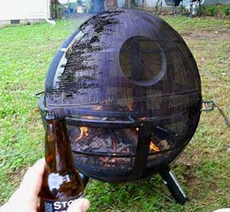 Awesome Homemade Death Star BBQ Grill TechEBlog