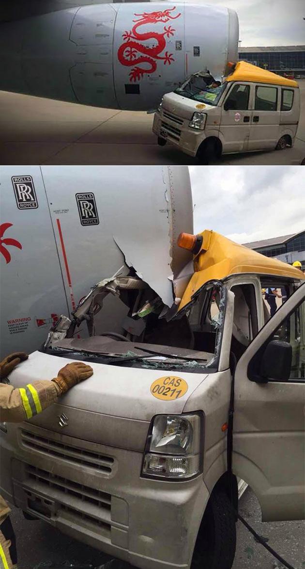 Delivery Van Plane Crash