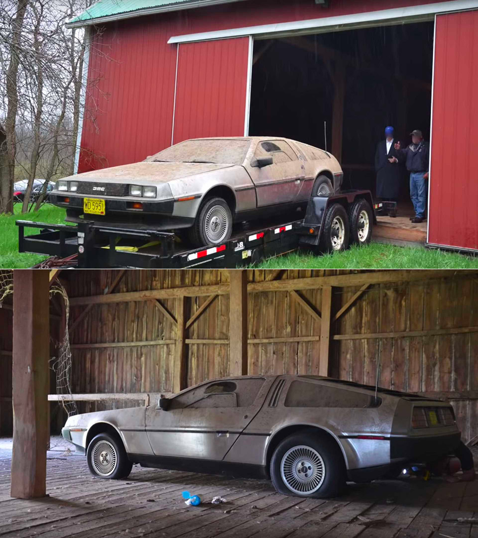 DeLorean DMC-12 Barn Find